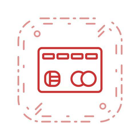 Icona di vettore della carta di credito