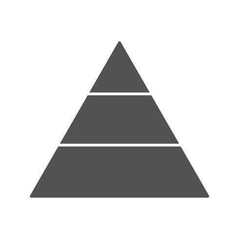 Ícone de vetor de pirâmide
