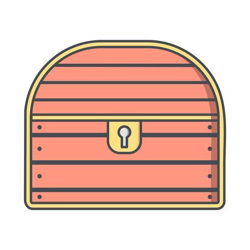Coin Chest Vector Icon