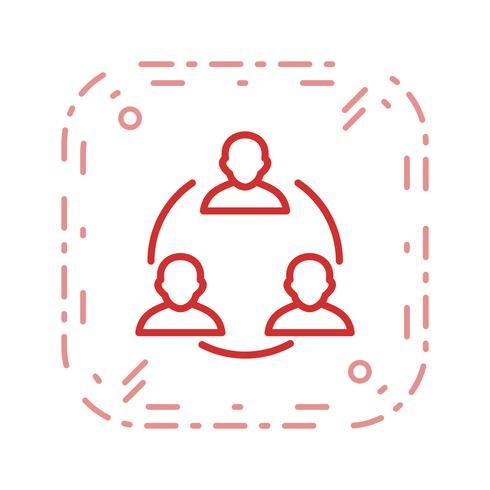 Icône de vecteur de réunion