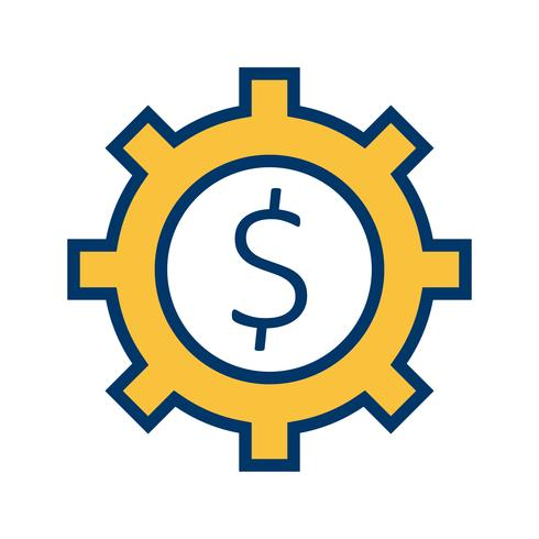 Business Cog Vector ikon