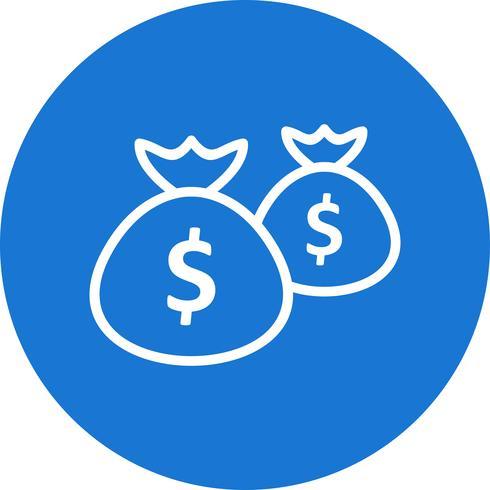 Sacs d'argent Vector Icon