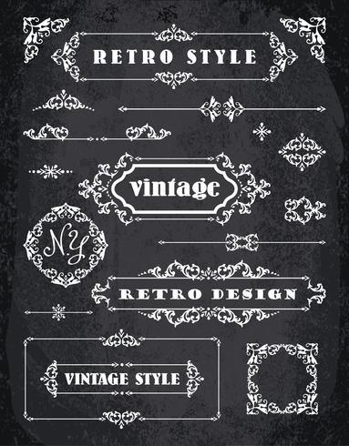 Set of Retro Vintage Badges, Frames, Labels and Borders.