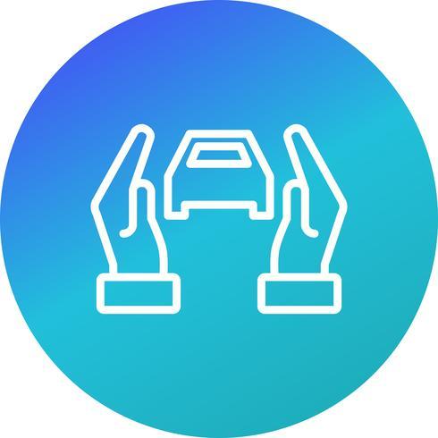 Icône de vecteur d'assurance voiture