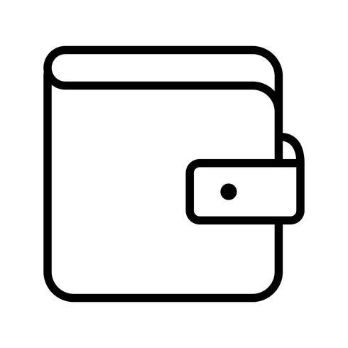 Icono de vector de cartera
