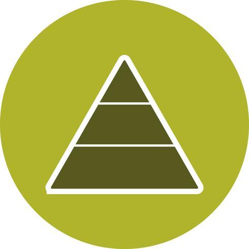 Icona di vettore di piramide