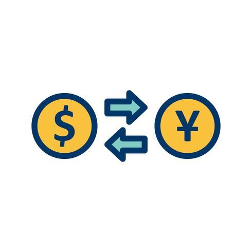 Tipo de cambio Vector icono