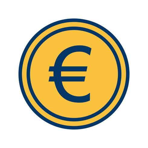 Icona di vettore di euro