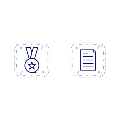 Set van Vector SEO Search Engine Optimization pictogrammen