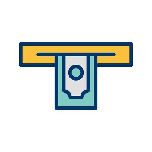 Icona di vettore di prelievo di contanti