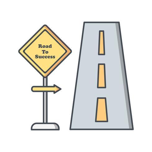 Weg naar succes Vector pictogram