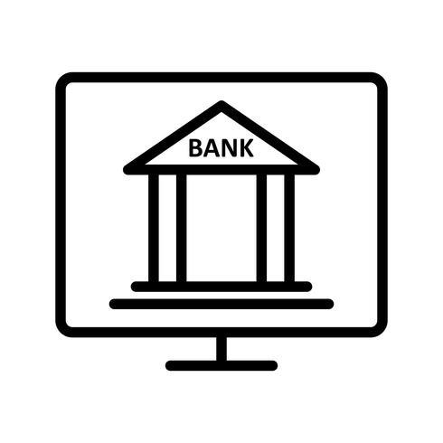 Internetbankieren Vector pictogram
