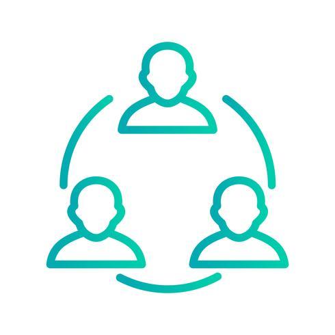 Icono de Vector de reunión
