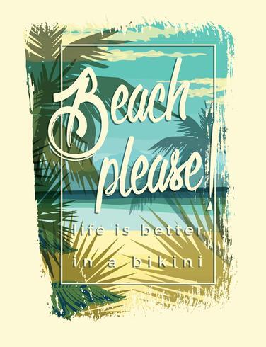 Ilustración vectorial con el eslogan para camisetas. vector