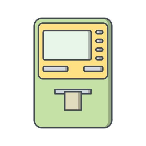 Bargeldbezug-Vektor-Symbol