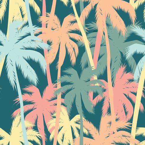 Impressão de verão tropical com palm.