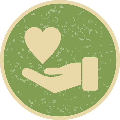 Icona di vettore di carità