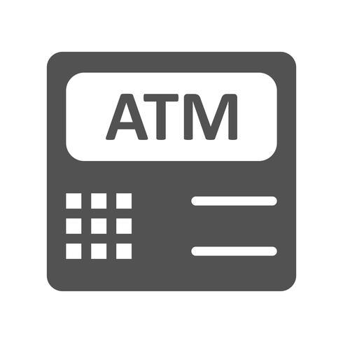 ATM-Maschinen-Vektor-Symbol