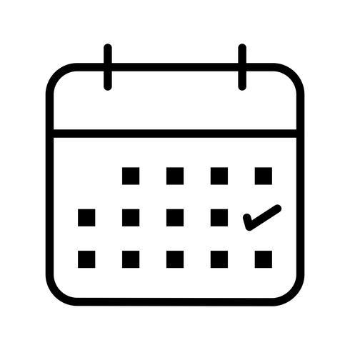 Icono de Vector de calendario de negocios