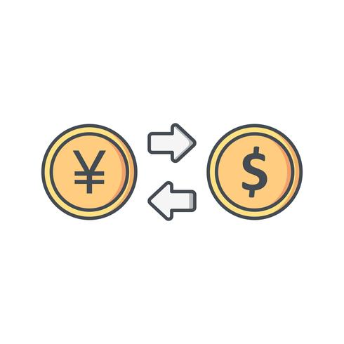 Exchange rate Vector Icon