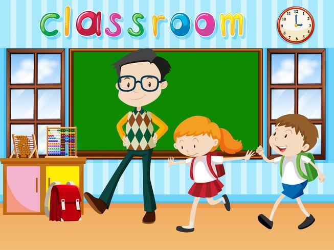 Insegnante e studenti in classe