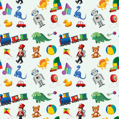 Children toys seamless pattern vector