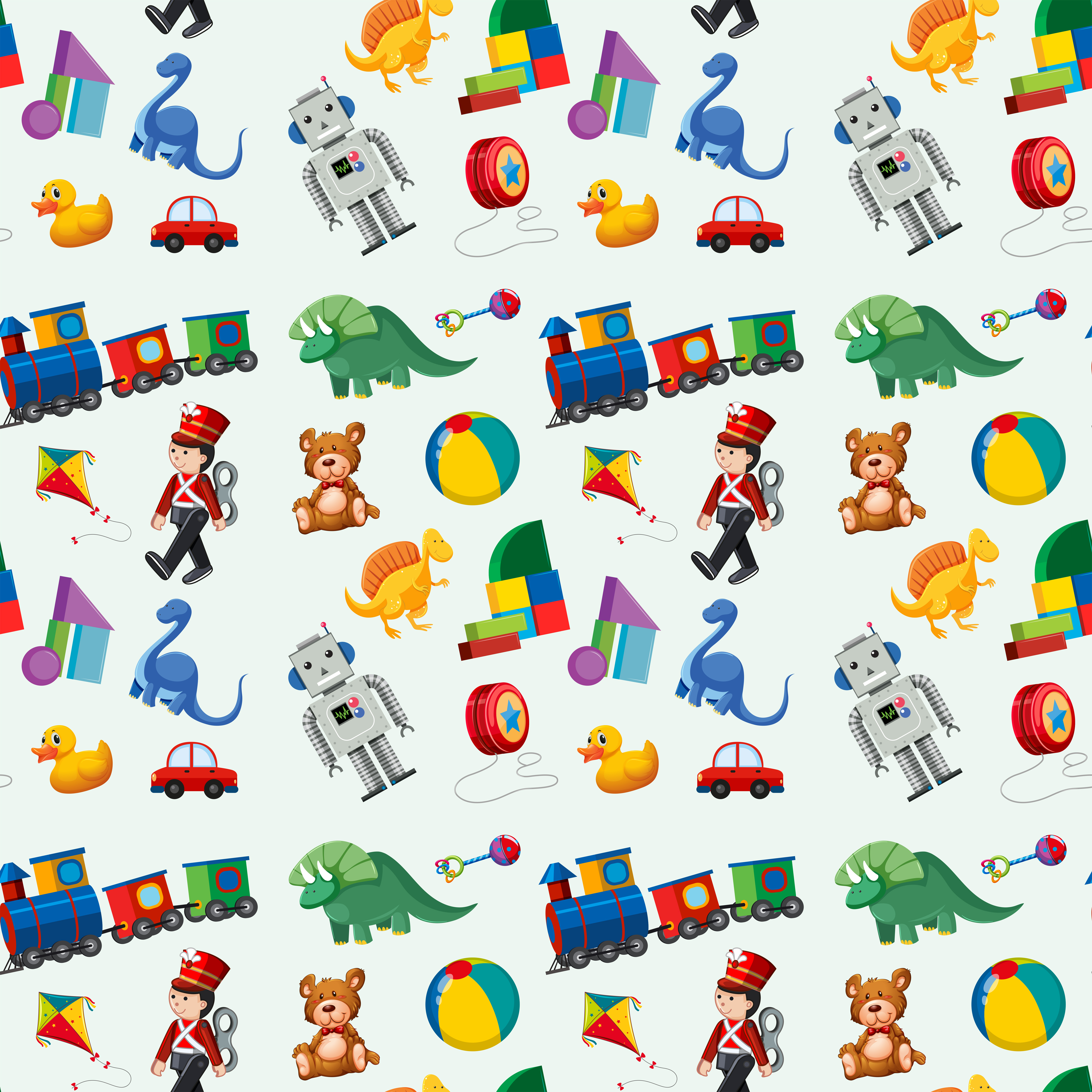 Children toys seamless pattern - Download Free Vectors ...