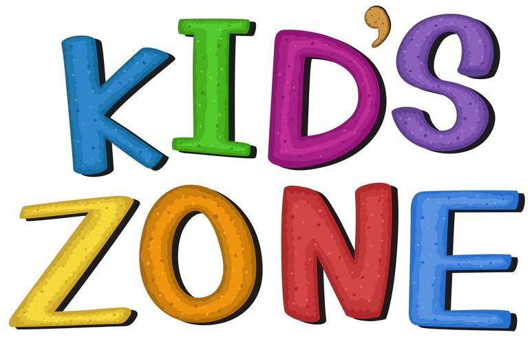 Kid's zone symbool op witte achtergrond