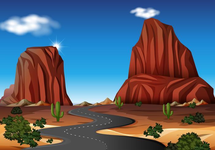 Un camino en el desierto