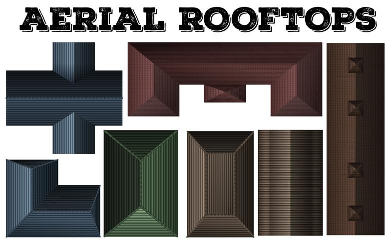 Different design of rooftops