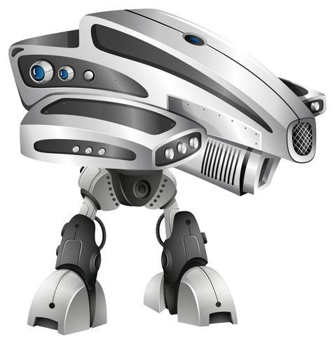 Modern robotontwerp met groot hoofd