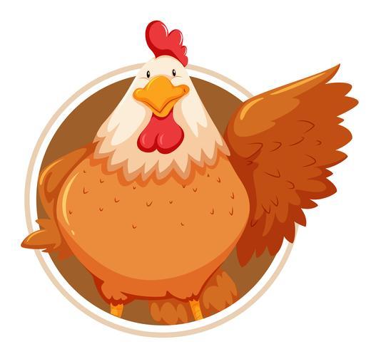 Pollo en plantilla círculo