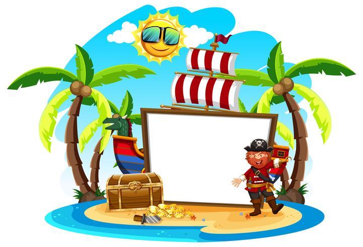 Pirate Captain och White Banner