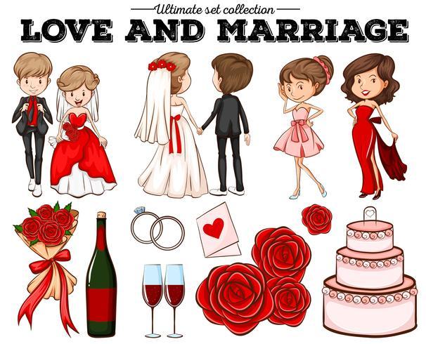 Les gens en amour et mariage