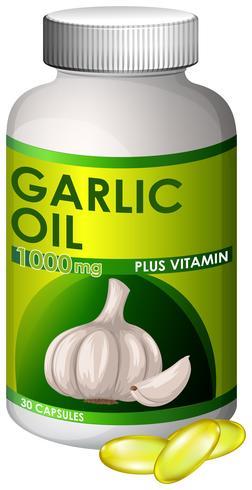 Una capsula di olio d'aglio