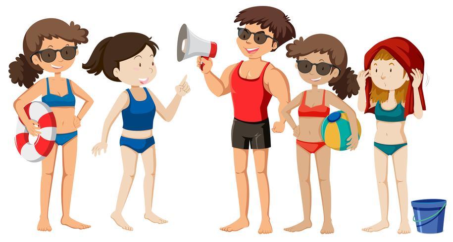 Een groep strandjongeren