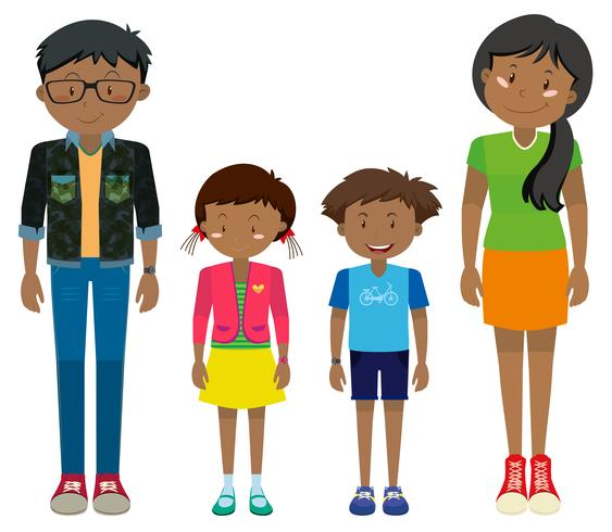 Adult and children standing together - Download Free ...