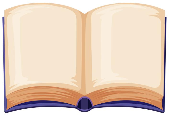 Blank book on white background vector