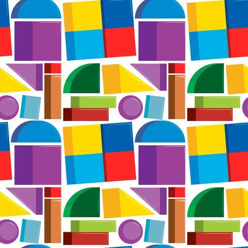 Naadloze patroon kleurrijke vormen