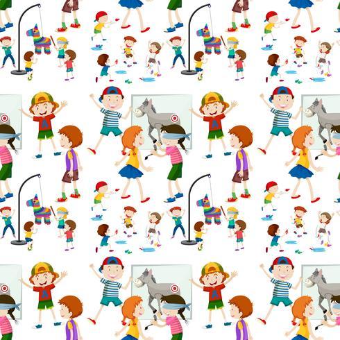 Actividad infantil de patrones sin fisuras.
