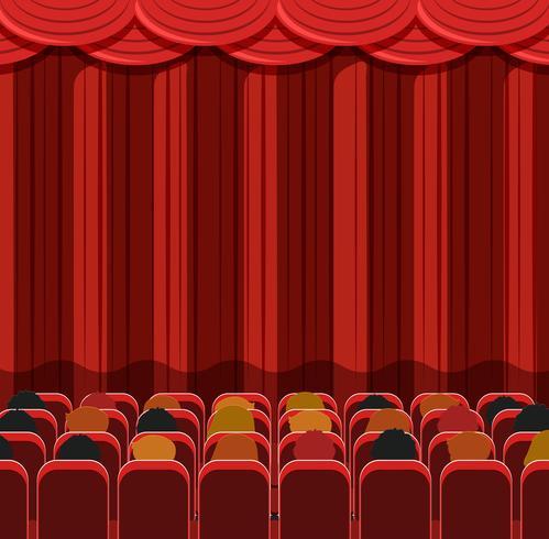 Mensen in een bioscoopscène