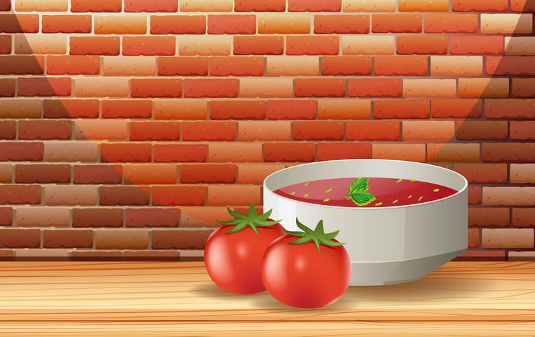 Una salsa de tomate y tomate fresco
