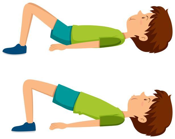 Boy doing hip exercises