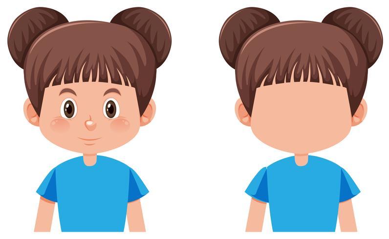 A brunette bun hair girl