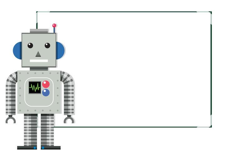 En Modern Robot White Banner