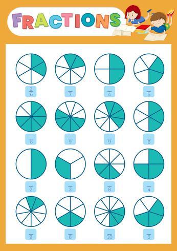 A math fraction worksheet