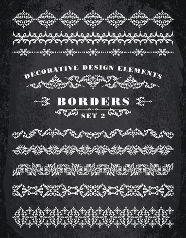 Vector Adornos Fronteras. Elementos decorativos de diseño.