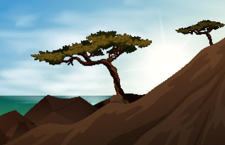 Mountain scene with trees on mountain - Download Free Vector Art, Stock Graphics & Images