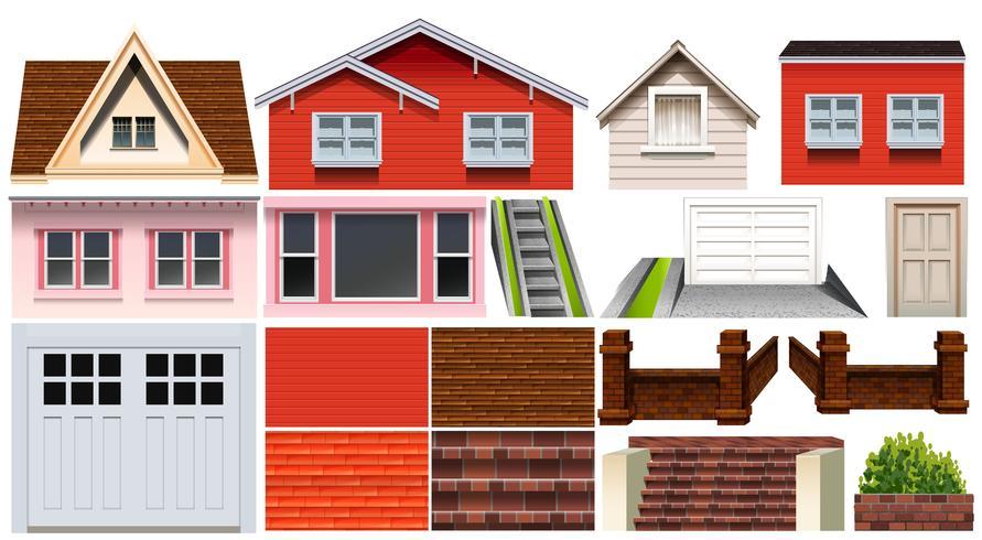Diseño diferente de la casa y otros elementos de la casa.