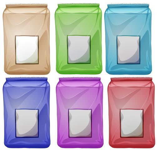 Set van kleurrijke pouches